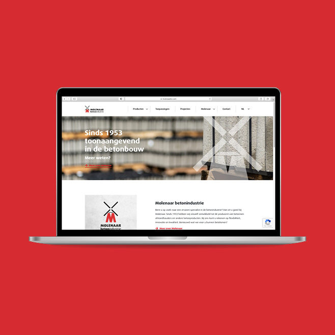 Blackdesk Case Molenaar Beton - webdesign